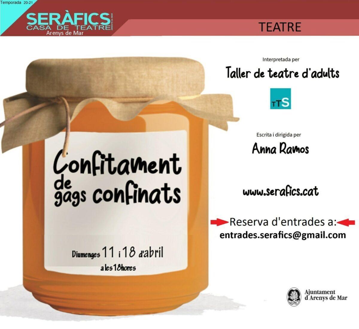 CONFINAMENT DE GAGS CONFITATS @ SERÀFICS